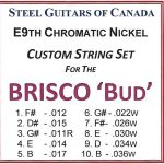 Brisco 'Bud' E9th Custom Set