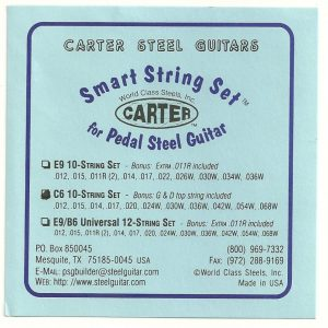 Carter S.I.T. 'Smart Set' Nickel C6 10 String Set