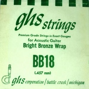 Single GHS BB18 Bright Bronze Wound Strings