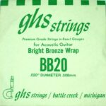 Single GHS BB20 Bright Bronze Wound Strings