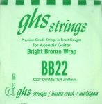 Single GHS BB22 Bright Bronze Wound Strings
