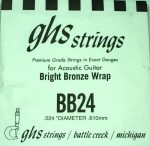 Single GHS BB24 Bright Bronze Wound Strings