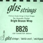 Single GHS BB26 Bright Bronze Wound Strings