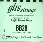 Single GHS BB28 Bright Bronze Wound Strings