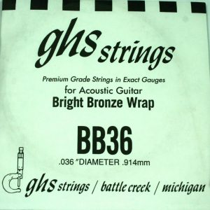 Single GHS BB36 Bright Bronze Wound Strings