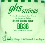 Single GHS BB38 Bright Bronze Wound Strings