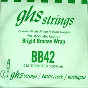 Single GHS BB42 Bright Bronze Wound Strings