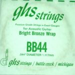 Single GHS BB44 Bright Bronze Wound Strings