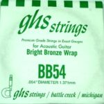 Single GHS BB54 Bright Bronze Wound Strings