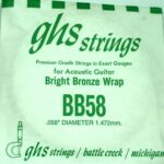 Single GHS BB58 Bright Bronze Wound Strings
