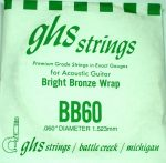 Single GHS BB60 Bright Bronze Wound Strings