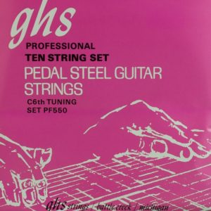 GHS PF-550 Nickel Semi-Flat C6th 10 String Set