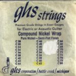 GHS N62C Compound Wound Pure Nickel Wrap Semi-Flat String