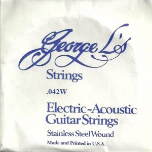 George L's Stainless .042 Wound String
