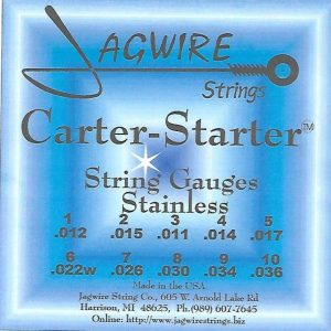 Jagwire CSE9-36S Carter-Starter Stainless E9th 10 String Set