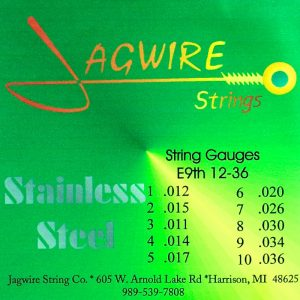 Jagwire JE9-36S Stainless Steel E9th 10 String Set