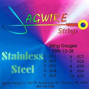 Jagwire JE9-38S, Stainless Steel E9th 10 String Set