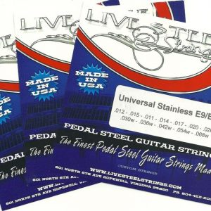 LIVE Stainless E9/B6 Universal 12 String 3 Set Special