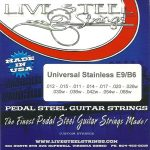 LIVE Stainless E9/B6 Universal 12 String Set