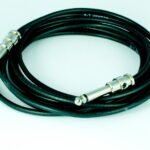 George L's Pre-made Black .155 cable x 10 ft. with standard Nickel Straight plugs.