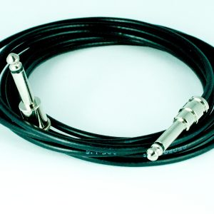 George L's Pre-made .155 cable 10 ft. with Nickel Straight & Right Angle 1/4″ plugs