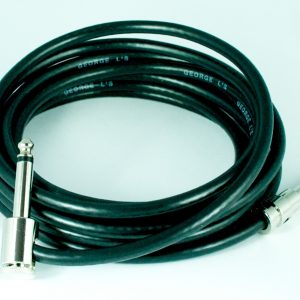 George L's Pre-made .225 cable 10 ft. with Nickel Straight & Right Angle 1/4″ Plugs