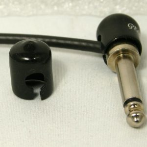 George L's Stress-Relief Jackets for Right-Angle Plugs (Black)